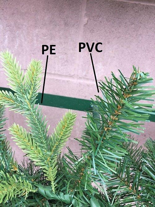 Какую выбрать искусственную елку из PVC или РЕ-резины