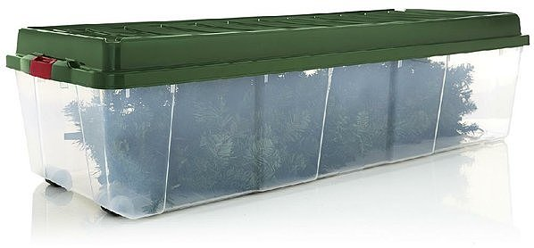 Хранение искусственной елки в пластиковом контейнере