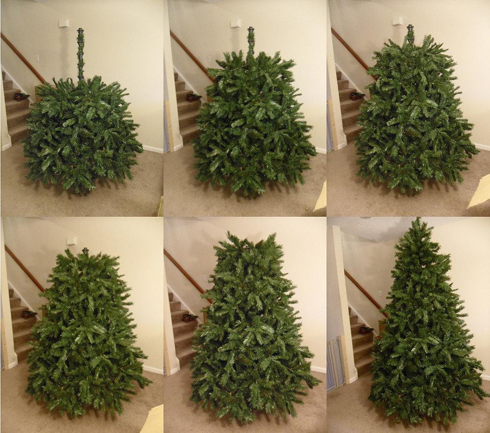 Как собрать цельную искусственную елку